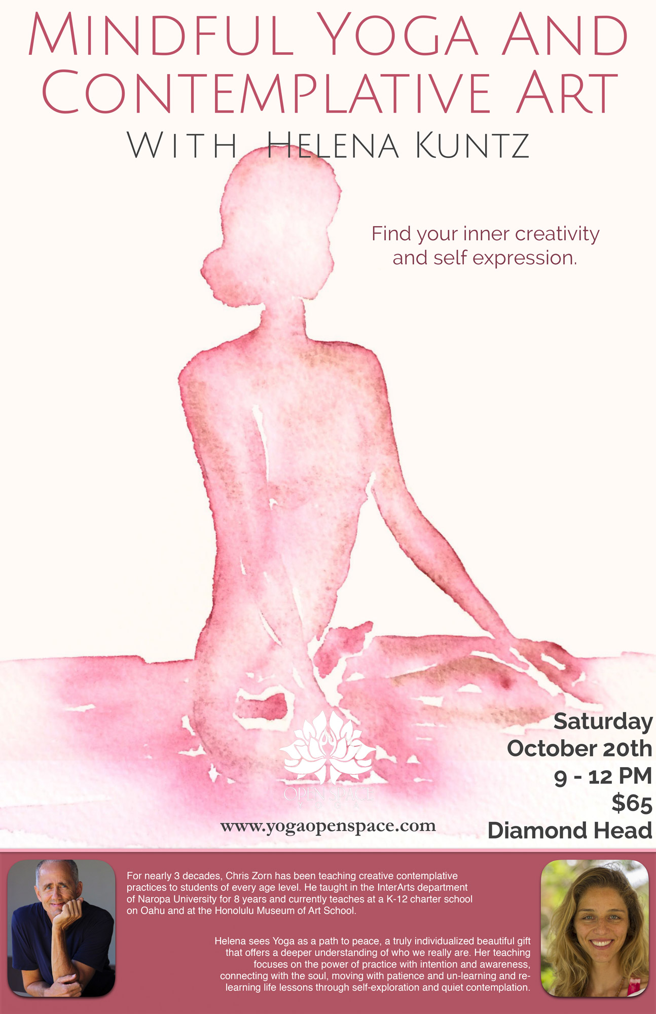 Mindful Art and Contemplative Yoga Flyer